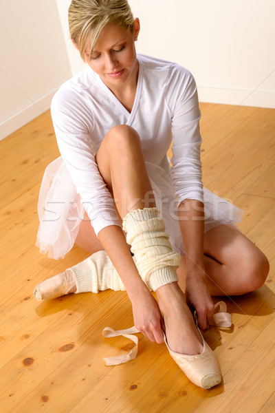 Ballet dancer getting ready for studio performance Stock photo © CandyboxPhoto