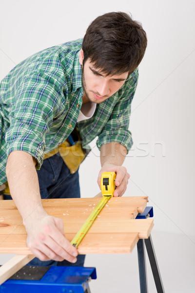 Home improvement - handyman prepare wooden floor Stock photo © CandyboxPhoto