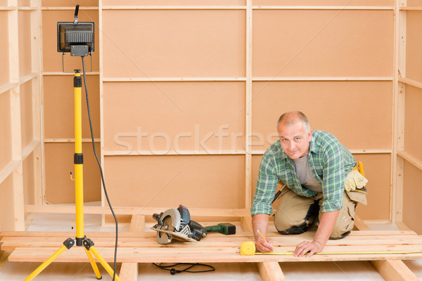 Handyman home improvement wooden floor renovation Stock photo © CandyboxPhoto