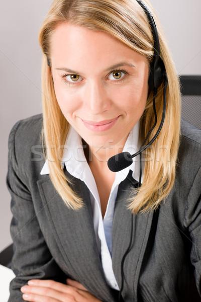 顧客サービス 女性 コール 演算子 電話 ヘッド ストックフォト © CandyboxPhoto