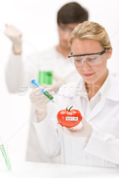 Genético engenharia cientistas laboratório teste Foto stock © CandyboxPhoto