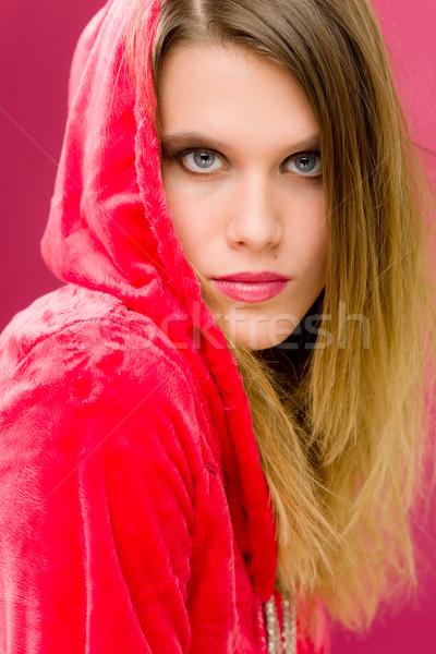 Moda modelo mulher jovem rosa jovem Foto stock © CandyboxPhoto