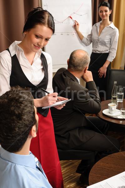Iş toplantısı garson sipariş yürütme Stok fotoğraf © CandyboxPhoto