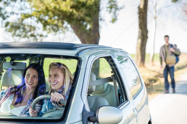 Izgalmas lányok vezetés autó elvesz két nő Stock fotó © CandyboxPhoto