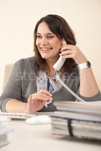 Сток-фото: улыбаясь · секретарь · телефон · служба · современных · сидят