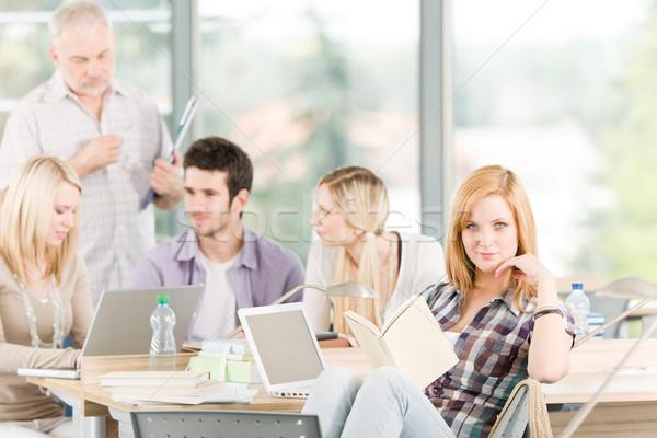 группа студентов зрелый профессор университета Сток-фото © CandyboxPhoto