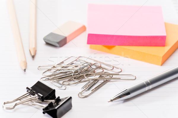 Papier Bürobedarf Erinnerung stellt fest Merkzettel Business Stock foto © CandyboxPhoto
