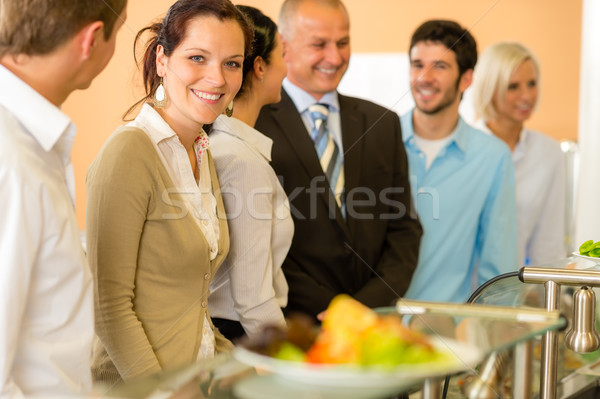 Business colleagues waiting for canteen lunch Stock photo © CandyboxPhoto