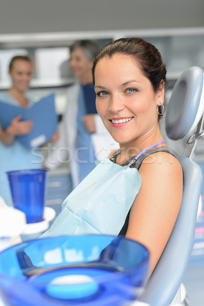 Patient on chair dental surgery dentist assistant Stock photo © CandyboxPhoto