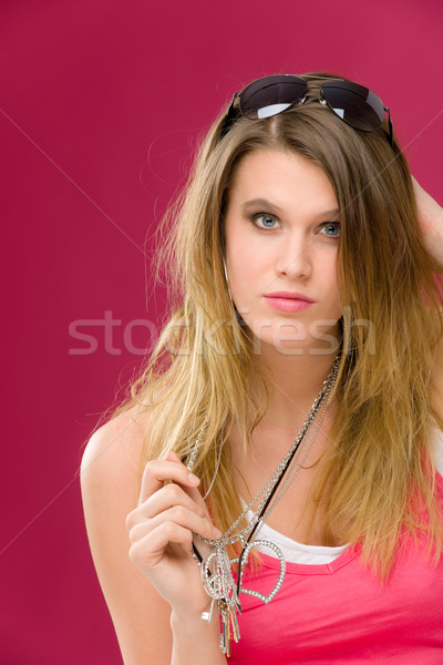 Fashion model - young woman in pink Stock photo © CandyboxPhoto