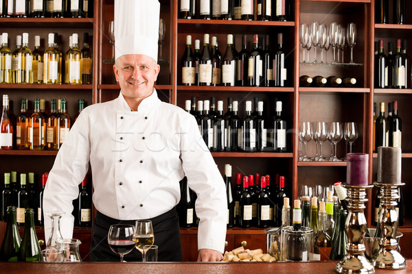 Chef cook wine bar standing confident restaurant Stock photo © CandyboxPhoto