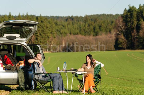 Сток-фото: кемпинга · автомобилей · наслаждаться · пикника