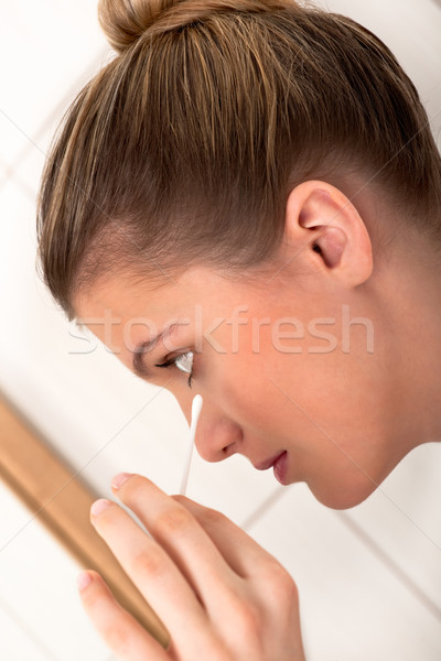 Body care - Close-up of woman cleaning face  Stock photo © CandyboxPhoto