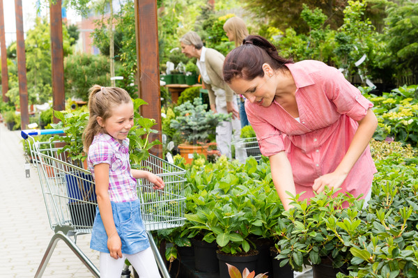 Garden centre child mother shopping flowers plant Stock photo © CandyboxPhoto