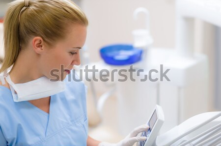 Dental assistant use orthodontic technology Stock photo © CandyboxPhoto