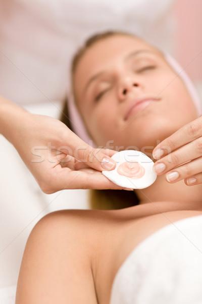 Сток-фото: женщину · косметики · лечение · салона · лице