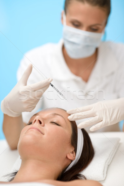 Injeção de botox mulher cosmético medicina tratamento Foto stock © CandyboxPhoto