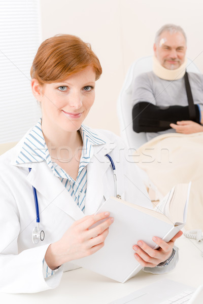 Doctor office - female physician book patient Stock photo © CandyboxPhoto