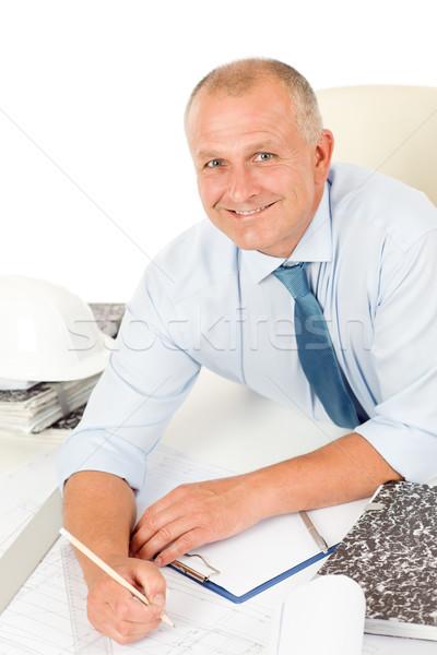 Profissional arquiteto diagrama atrás tabela retrato Foto stock © CandyboxPhoto