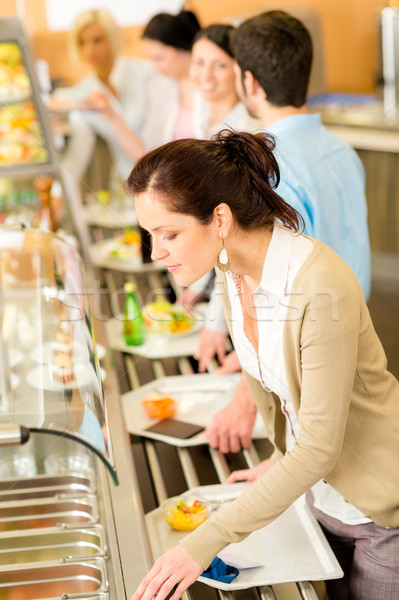 Business woman choose cafeteria lunch buffet Stock photo © CandyboxPhoto