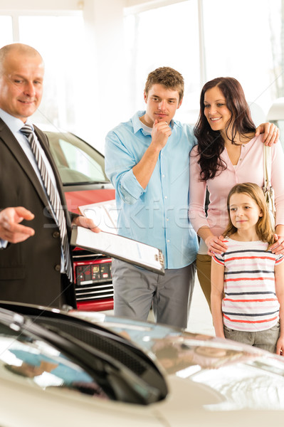 Salesman offering a family car to couple Stock photo © CandyboxPhoto