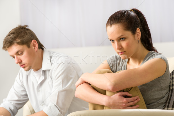 Unhappy couple sitting silently after argument Stock photo © CandyboxPhoto