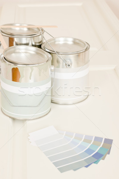 Home decorating paint can color swatches  Stock photo © CandyboxPhoto