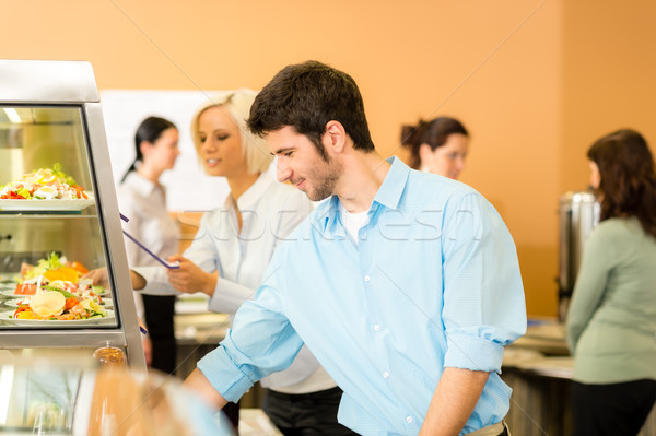 Business man take cafeteria lunch food Stock photo © CandyboxPhoto