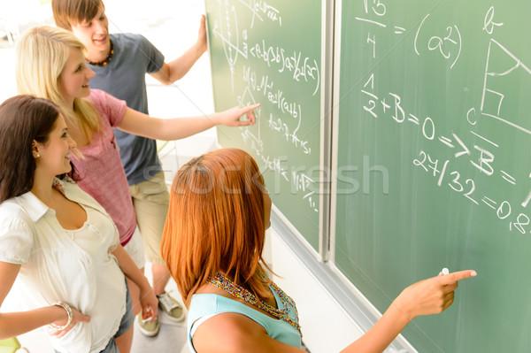 数学 学生 書く 緑 黒板 クラスメート ストックフォト © CandyboxPhoto