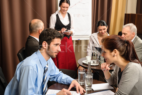 Businesspeople conference room waitress take order  Stock photo © CandyboxPhoto