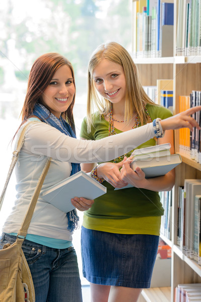 High school library happy student search book  Stock photo © CandyboxPhoto