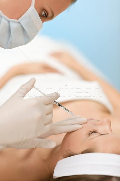 Botox enjeksiyonu kadın kozmetik tıp tedavi Stok fotoğraf © CandyboxPhoto