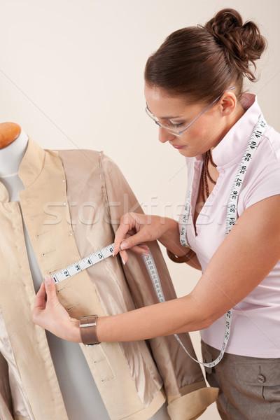 Homme mode designer mesure veste Photo stock © CandyboxPhoto