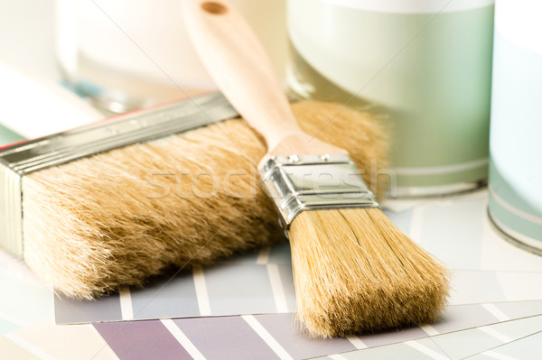 Painting supplies brush, can and swatch Stock photo © CandyboxPhoto
