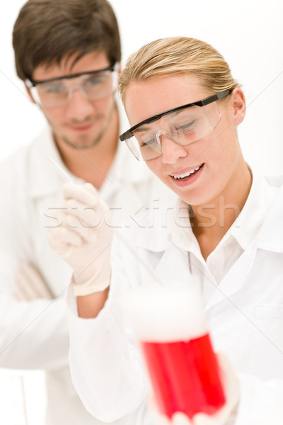 Chemistry experiment -  scientists in laboratory Stock photo © CandyboxPhoto