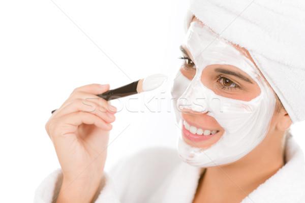 Nastolatek problem pielęgnacja skóry kobieta maska piękna Zdjęcia stock © CandyboxPhoto