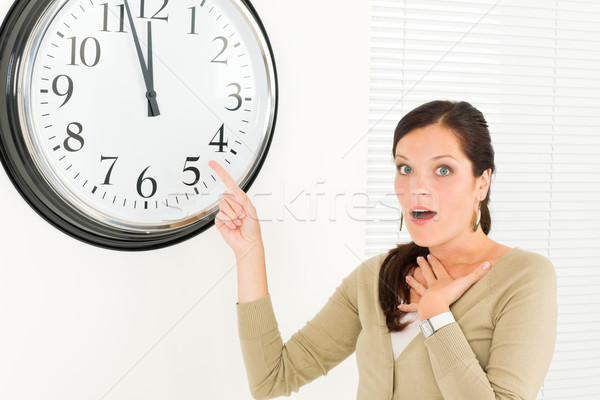 Timing - Surprised face businesswoman casual Stock photo © CandyboxPhoto