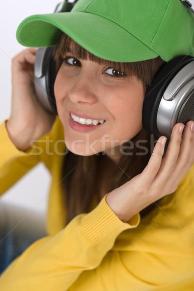 幸せ 女性 代 楽しむ 音楽 ヘッドホン ストックフォト © CandyboxPhoto
