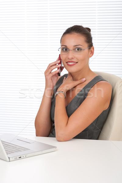 Zdjęcia stock: Korporacyjnych · kierownik · pracy · laptop · biuro · telefonu