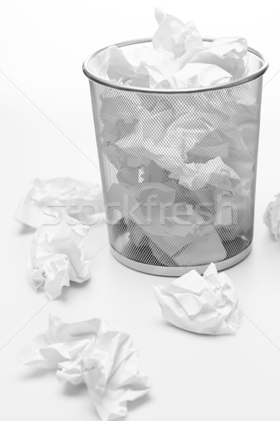 Office trash bin full of paper waste Stock photo © CandyboxPhoto