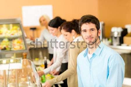 Kundschaft warten line kaufen Dessert Frau Stock foto © CandyboxPhoto