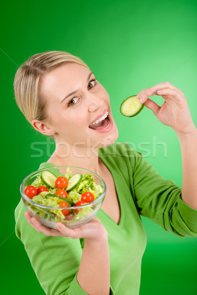 Healthy lifestyle - woman holding vegetable salad  Stock photo © CandyboxPhoto