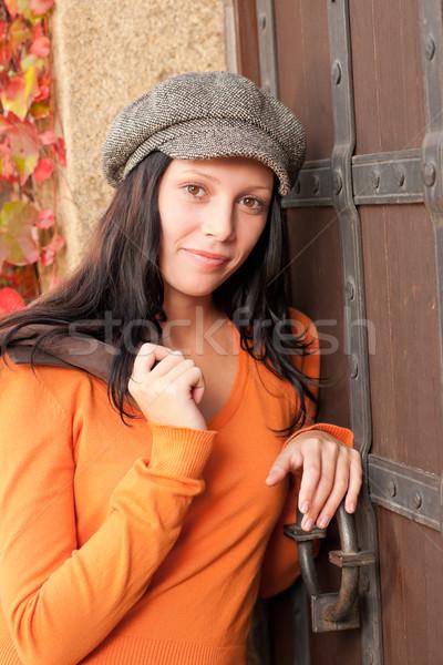 Sonbahar portre güzel genç kadın model Stok fotoğraf © CandyboxPhoto