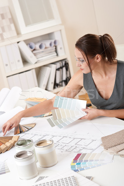 Female interior designer working with color swatch  Stock photo © CandyboxPhoto