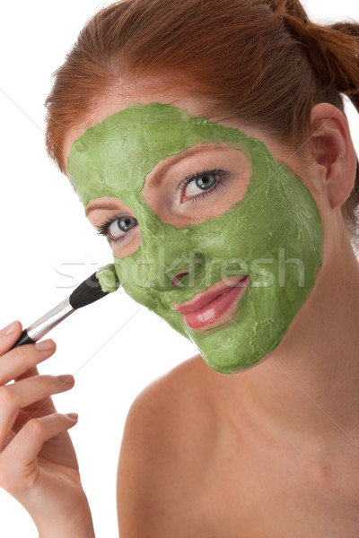 Test törődés fiatal nő maszk fehér szépség Stock fotó © CandyboxPhoto