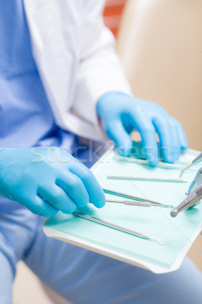 Dental equipment close up on surgery table Stock photo © CandyboxPhoto