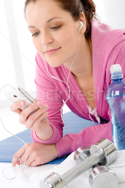Fitness woman listen music mp3 relax gym Stock photo © CandyboxPhoto