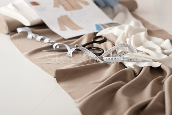 Stock photo: Fashion designer studio with professional equipment