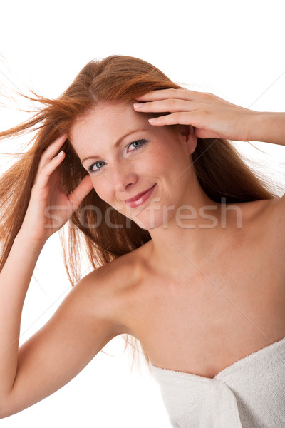 Body care series - Long red hair woman Stock photo © CandyboxPhoto