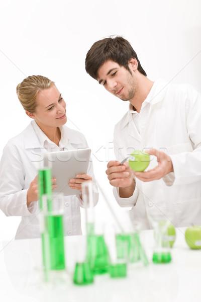 Genetikai mérnöki tudós laboratórium tudósok génmanipulált Stock fotó © CandyboxPhoto